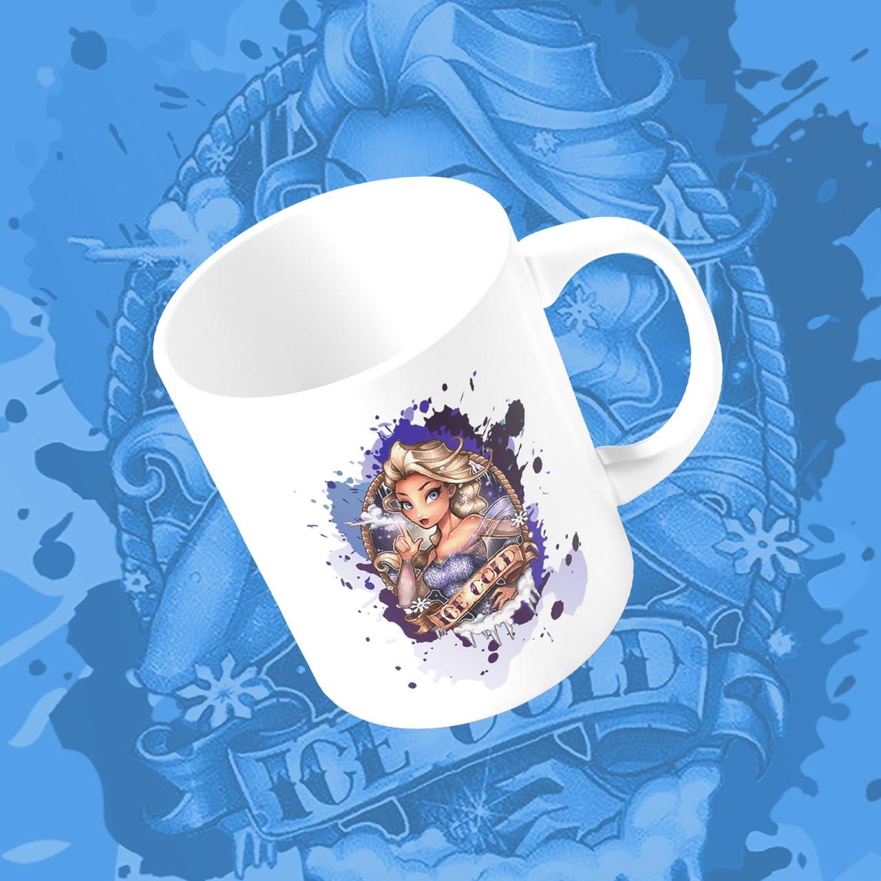 Caneca Princesa Elsa: Frozen - Disney (Branco) - EV
