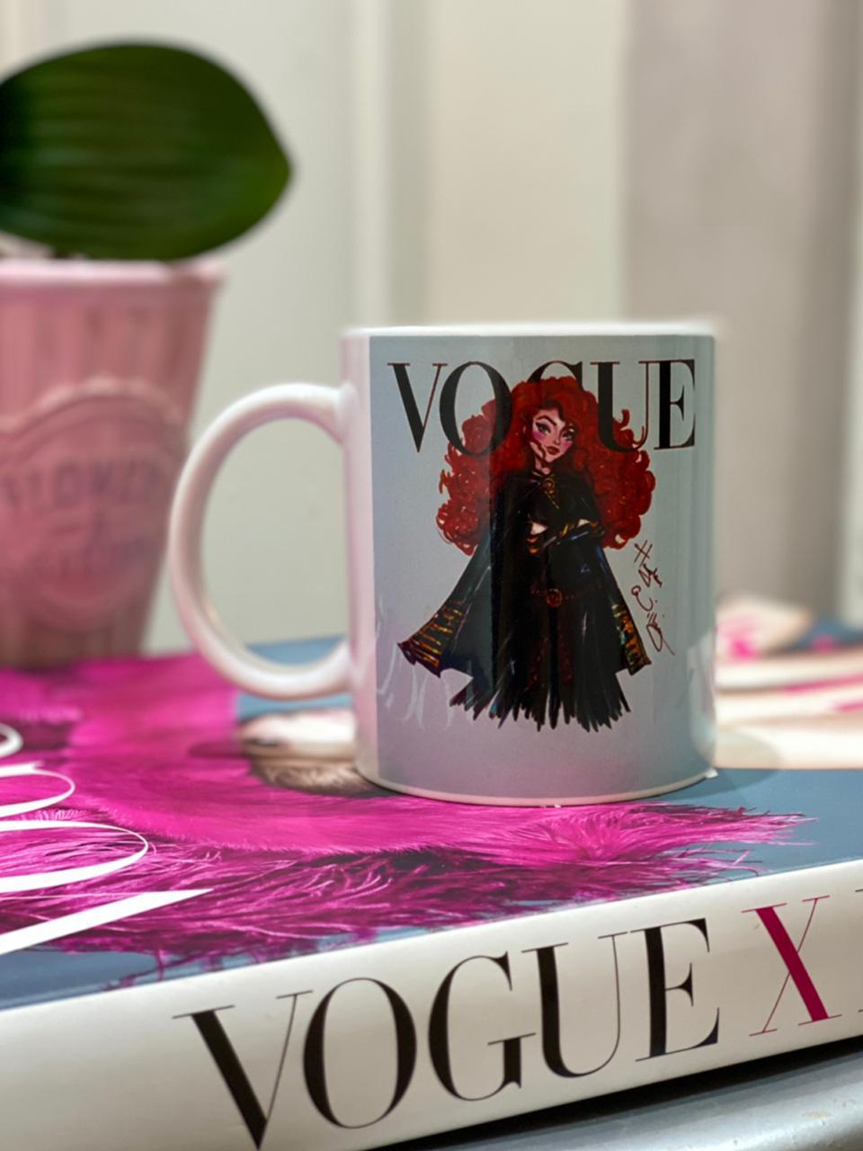 Caneca Princesa Vogue: Merida - Disney