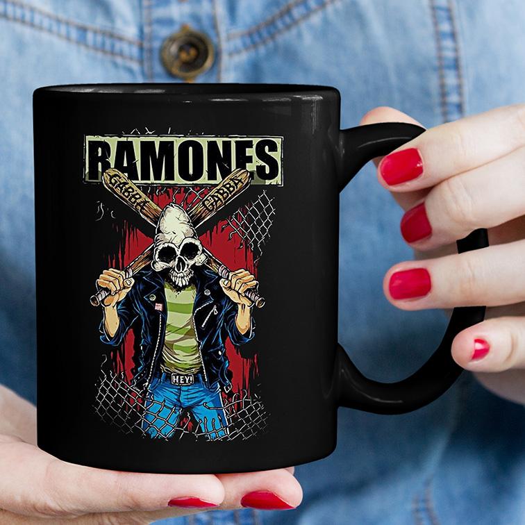 Caneca Ramones Punk Rock Queens (Preta) - EV