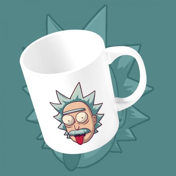 """Caneca Ricky """"Einstein"""": Rick e Morty (Branca)"""