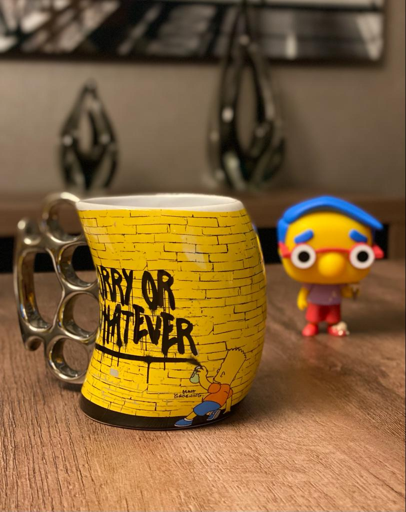Caneca Soco Inglês Bart Simpson (Yes I'm Guilty But Can You Prove it?): Os Simpsons (350ml) - Zonacriativa
