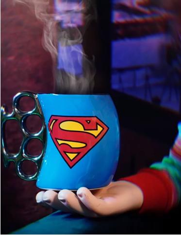 Caneca Soco Inglês Super-Homem SuperMan: Liga da Justiça Justice League DC Comics 350ml - Zona Criativa