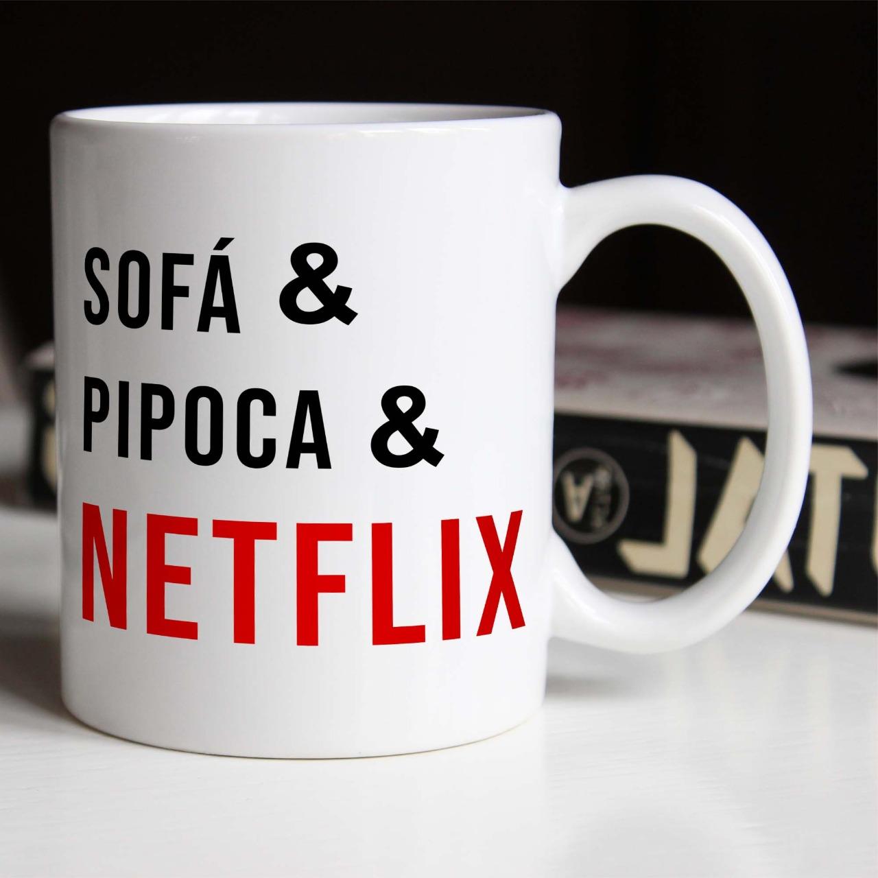 Caneca Sofá & Pipoca & Netflix - 300ml - EV