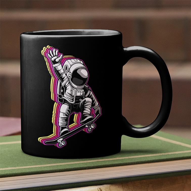Caneca Space Nasa Skate Astronauts Astronauta (Preta) - EV