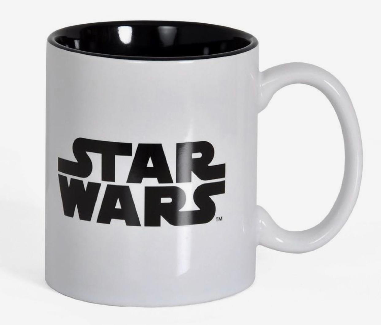 Caneca Star Wars: Logo (Preto e Branco)