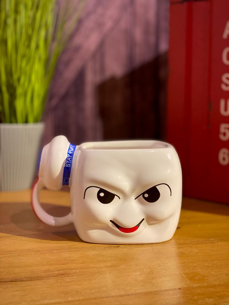 Caneca 3D Stay Puft: Os Caças Fantasmas (Pequenos Detalhes Na Cerâmica)