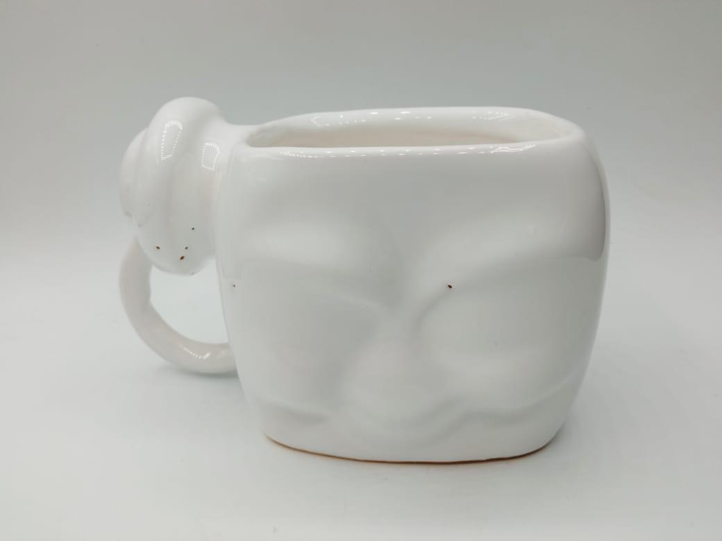Caneca Stay Puft: Os Caças Fantasmas (Branca) (Pequenos Detalhes Na Cerâmica)