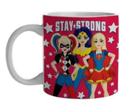Caneca Stay Strong: DC SuperHero Girls - (300ML)