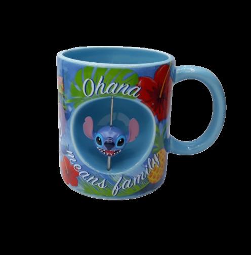 Caneca Stitch: Lilo & Stitch (Com Stitch Giratório)