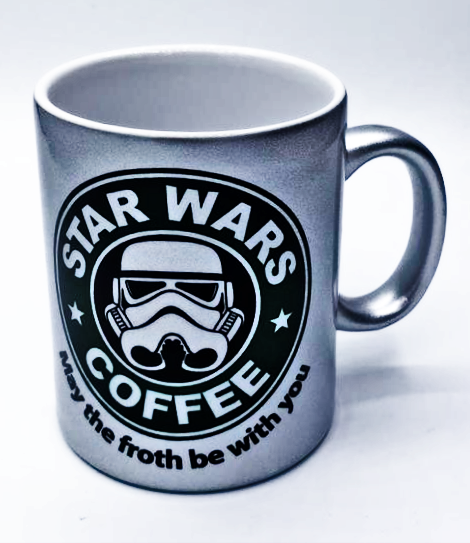 Caneca Stormtrooper: Star Wars Coffee (Prata)