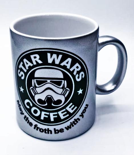 Caneca Stormtrooper: Star Wars Coffee (Prata)