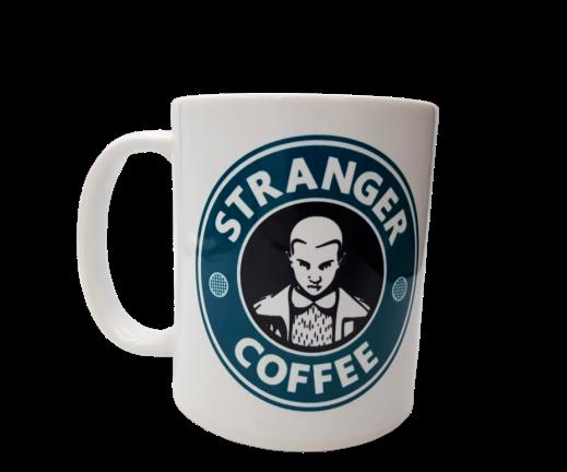 Caneca Stranger Coffee (Logo Azul, Preto e Branco)