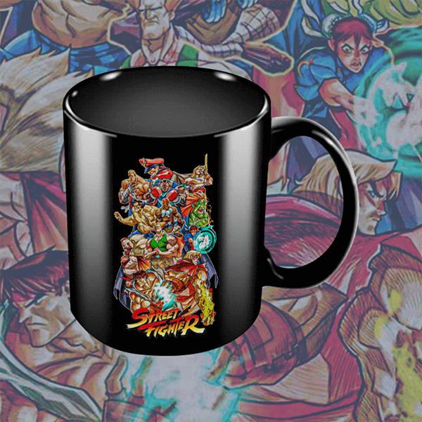 Caneca Street Fighter: Lutadores (Preta) - EV