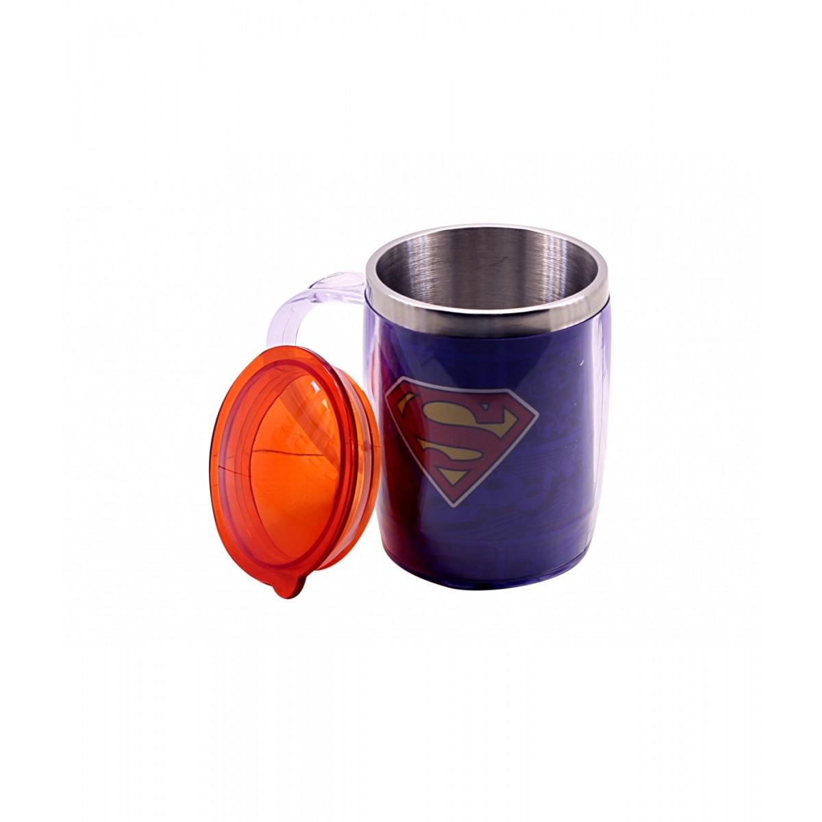 Caneca Térmica com Tampa Superman: Liga da Justiça