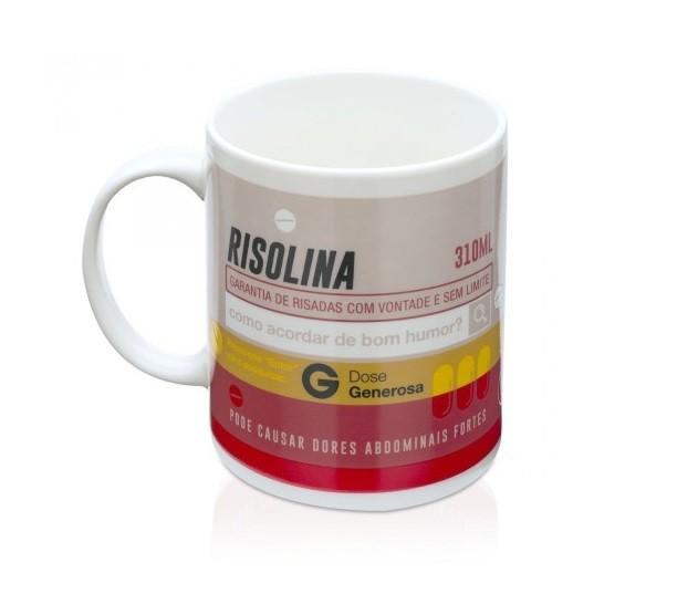 Caneca Termossensível Remédio Vermelho (Risolina) 310ml
