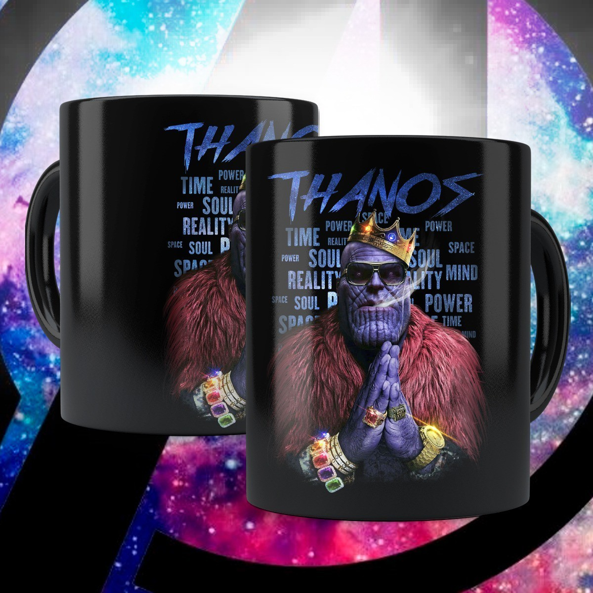 Caneca Thanos Gângster: Marvel