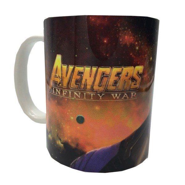Caneca Thanos: Vingarores Guerra Infinita - Branca (330 ML)