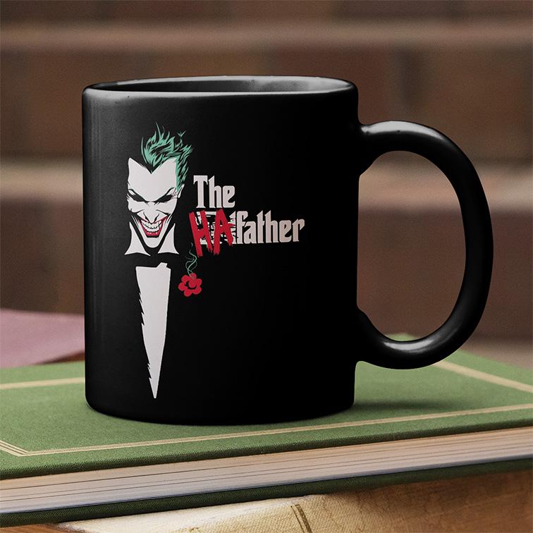 Caneca The HaFather Joker Coringa The Godfather (Preta) - EV