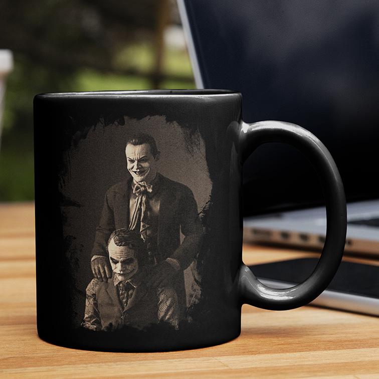 Caneca The Joker Like Father Like Son Jack Nicholson's: Coringa (Preta) - EV