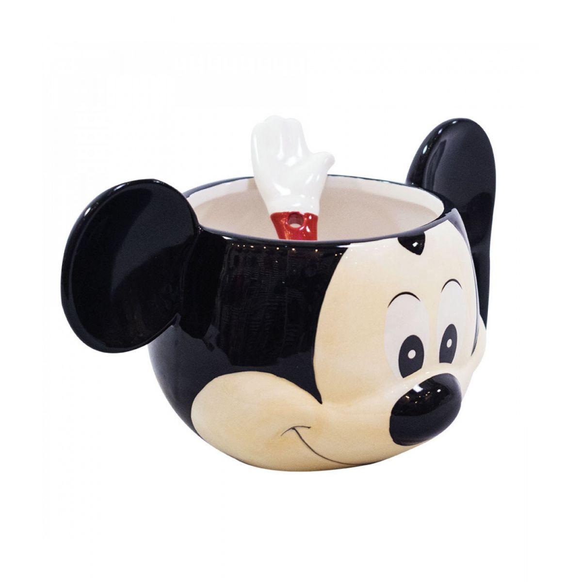 Caneca De Porcelana 3D (Tigela): Mickey Mouse Rosto 280ml - Disney