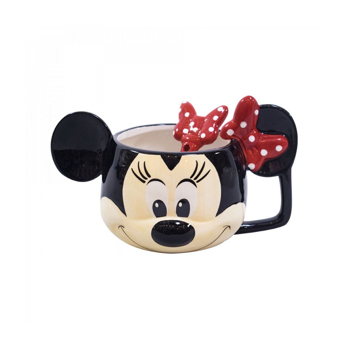 Caneca De Porcelana 3D (Tigela):  Minnie Mouse Rosto - Disney