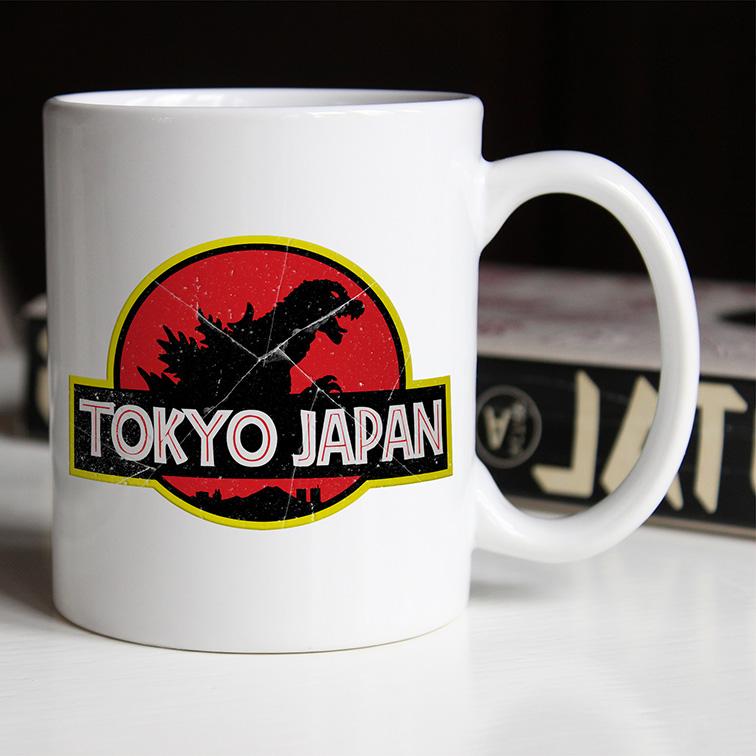 Caneca Tokyo Japan: Jurassic Park (Branca) - EV