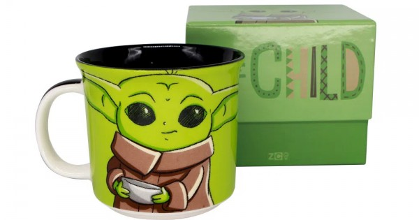 Caneca Tom The Child Grogu Baby Yoda: O Mandaloriano The Mandaloriam Guerra Nas Estrelas Star Wars 350ml