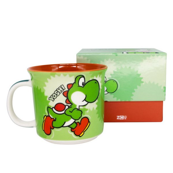 Caneca Tom Yoshi - Super Mario Bros. (350ml)