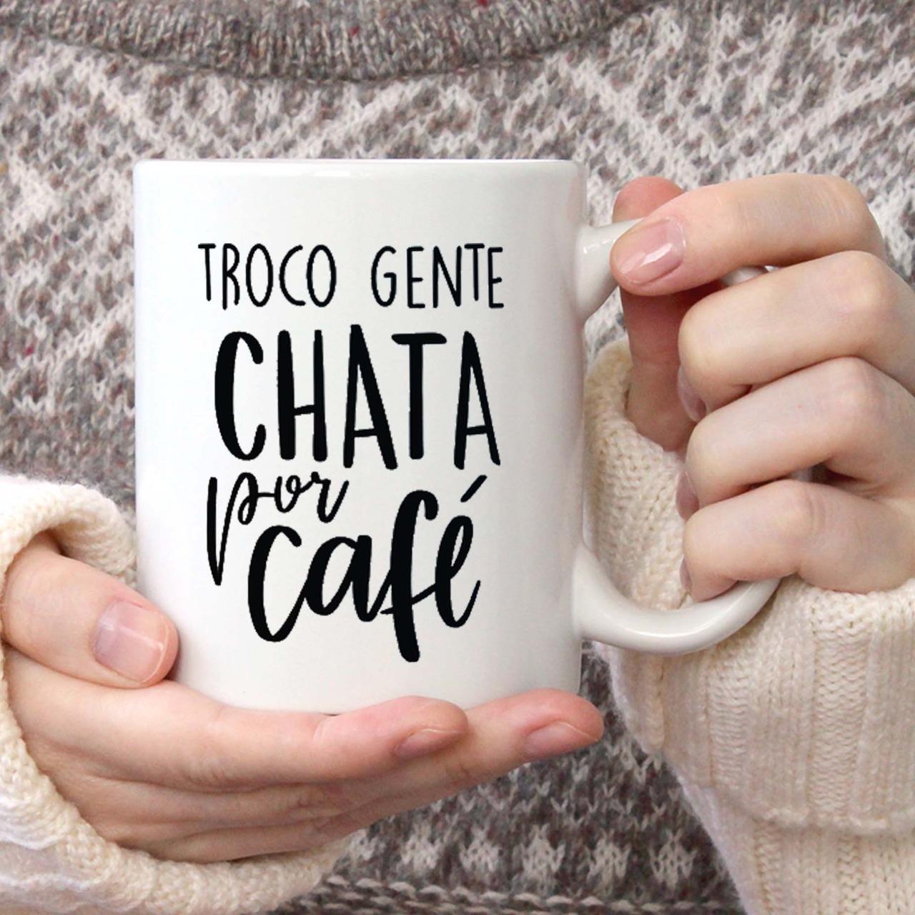 Caneca Troco Gente Chata Por Café - 300ml - EV