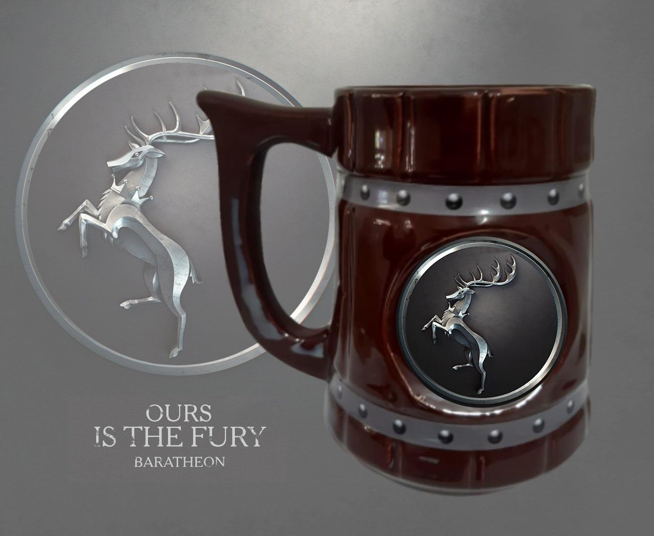 Caneca 3D Viking Cerveja Chopp Casa Baratheon: Game of Thrones 700 ML