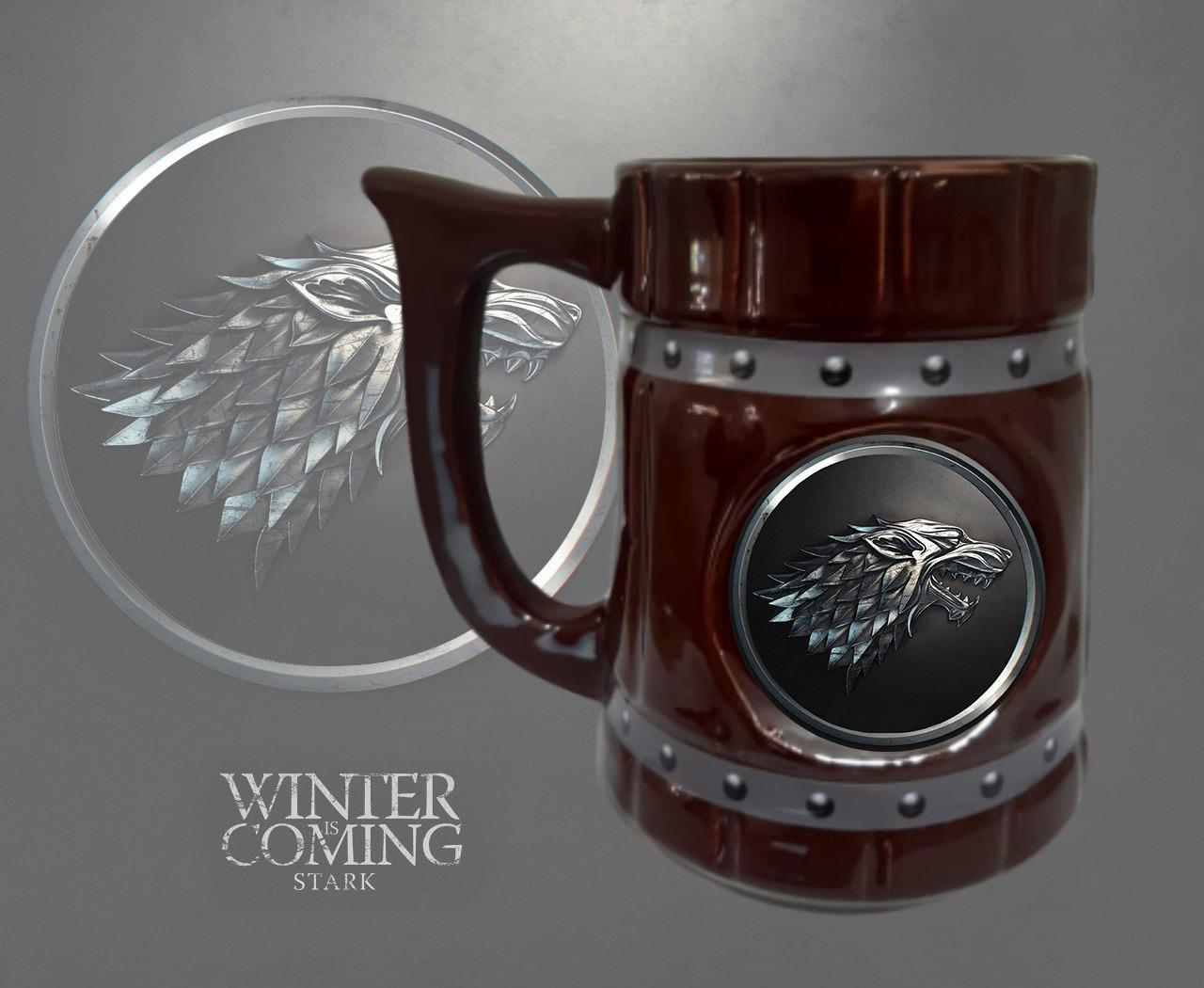 Caneca 3D Viking Cerveja Chopp Casa Stark: Game of Thrones 700 ML - EV