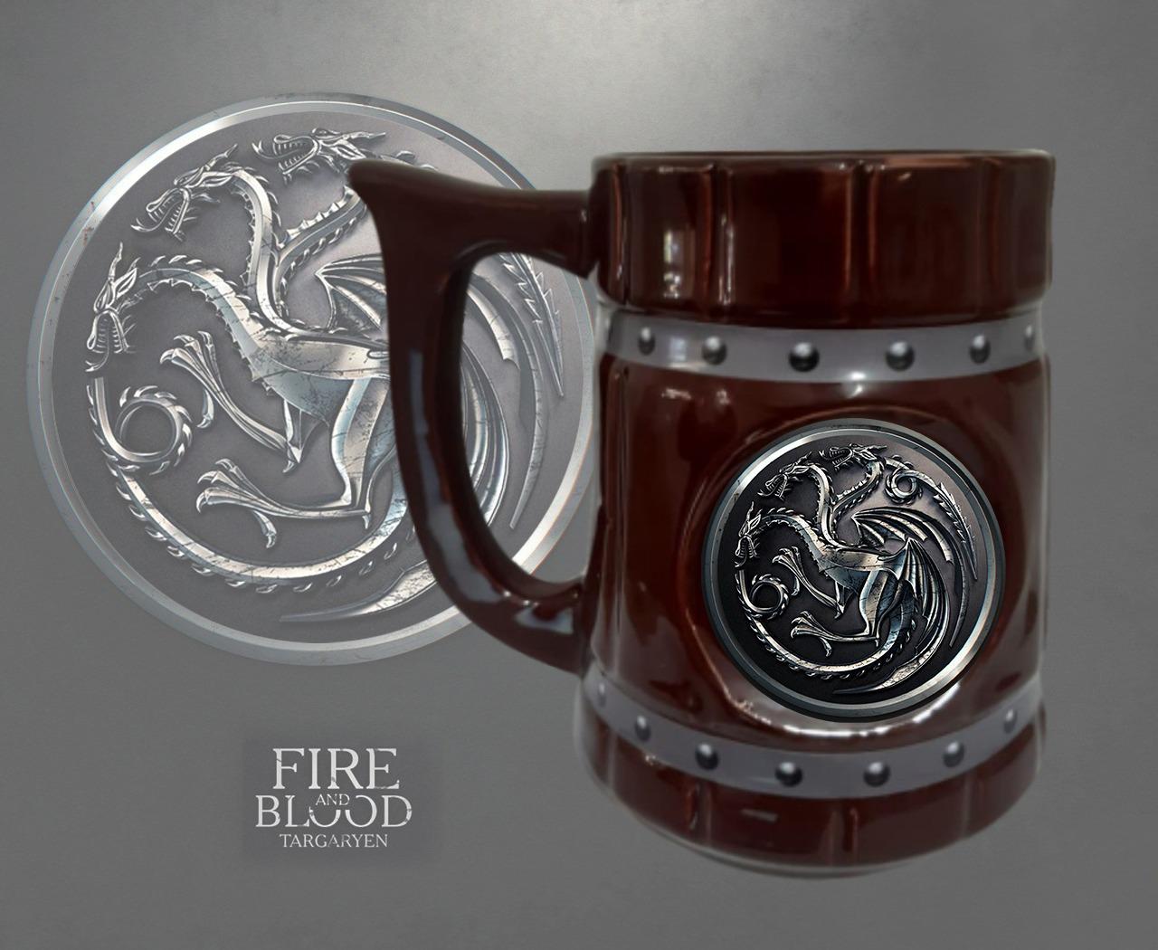 Caneca 3D Viking Cerveja Chopp Casa Targaryen: Game of Thrones 700 ML - EV