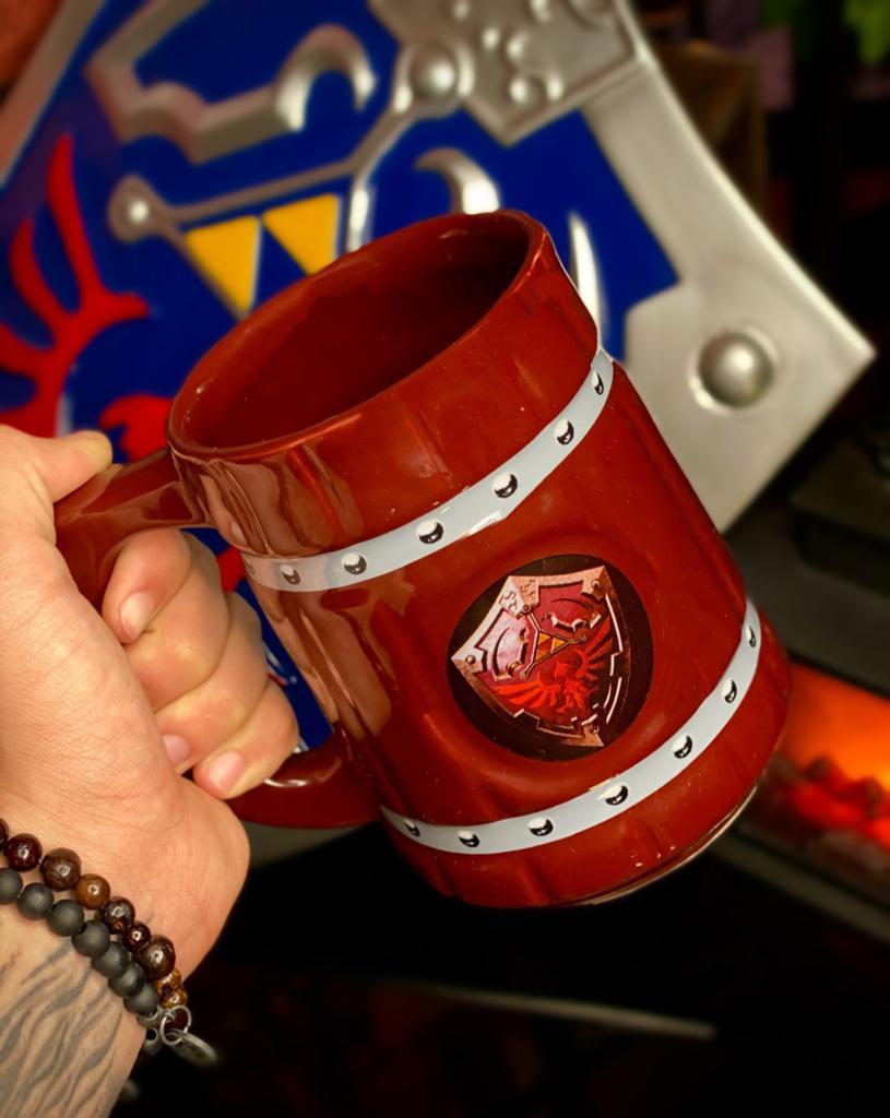 Caneca Viking Chopp Legend of Zelda Escudo Legend of Zelda 700 ml - EV