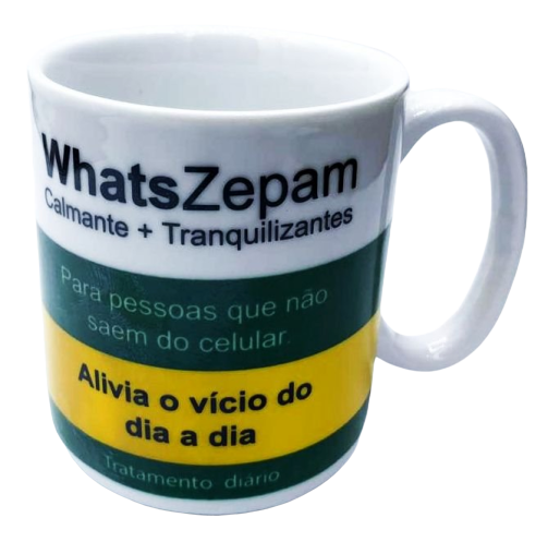 "Caneca ""WhatsZepam"" - (300ML)"