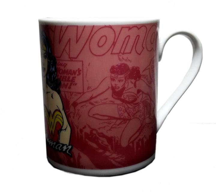 Caneca Wonder Woman (Mulher Maravilha) Scratched Rosa