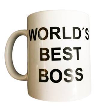 Caneca World's Best Boss (O Melhor Chefe do Mundo) Dunder Mifflin Inc Paper Company: The Office