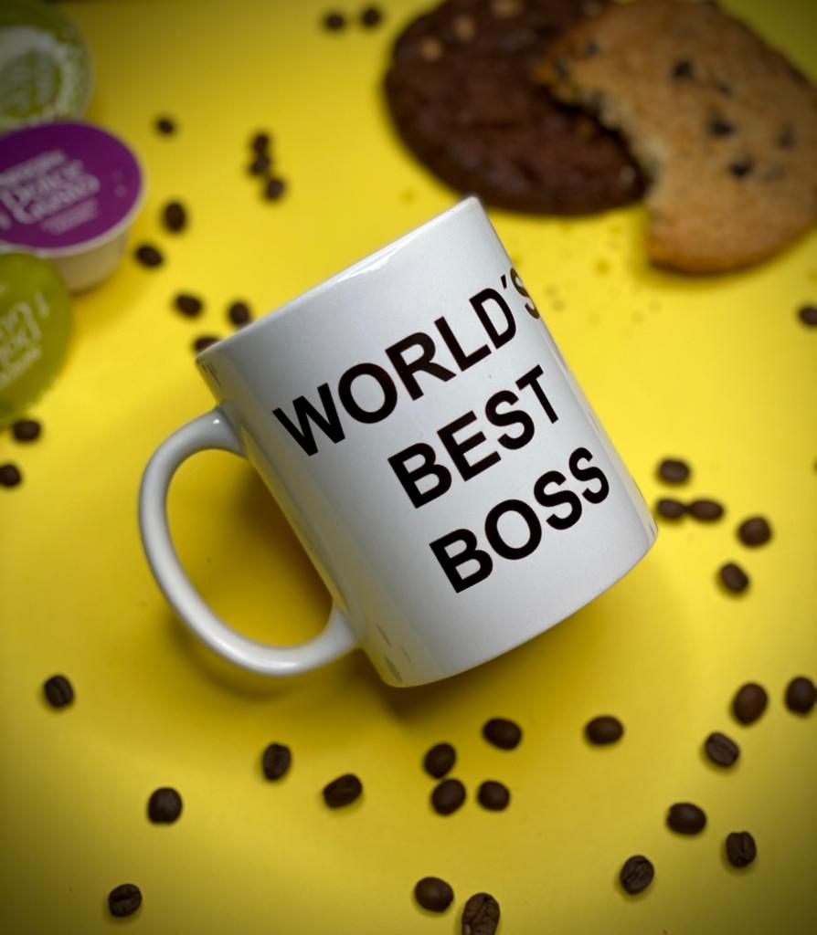 Caneca World's Best Boss (O Melhor Chefe do Mundo) Dunder Mifflin Inc Paper Company: The Office