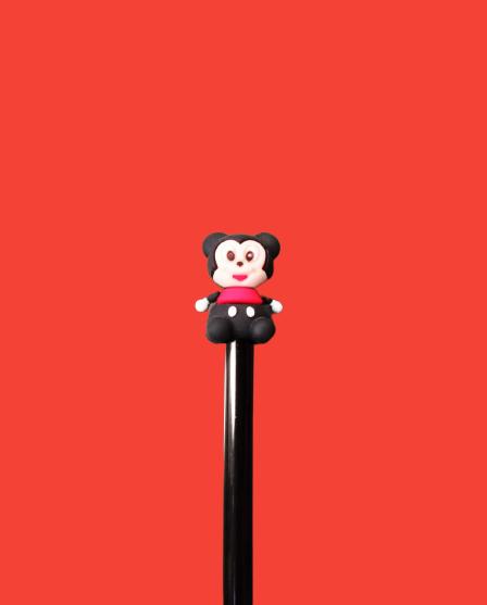 Caneta Gel Baby Mickey Mouse Preto (Tinta Preta)