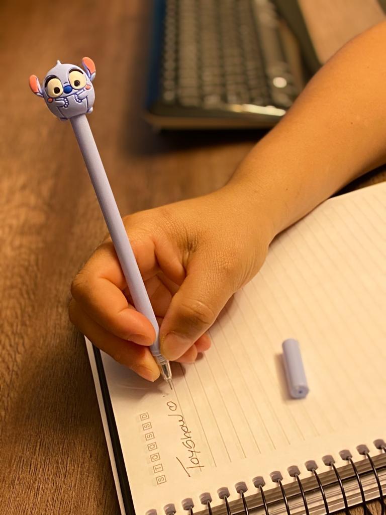 Caneta Gel: ''Baby Stitch''  (Tinta Azul)