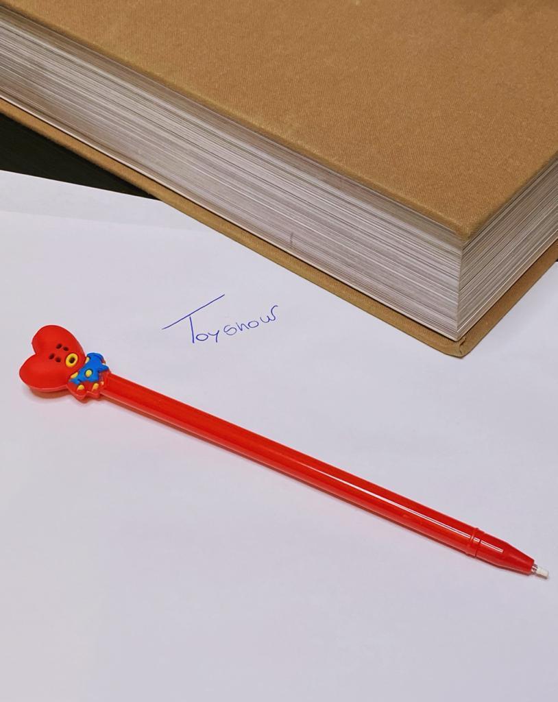 Caneta Gel: BT21 ''Tata'' Vermelho (Tinta Preta)