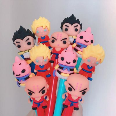 Caneta Gel Dragon Ball Z (4 Modelos) Goku, Vegeta, Majin Boo e Kuririn