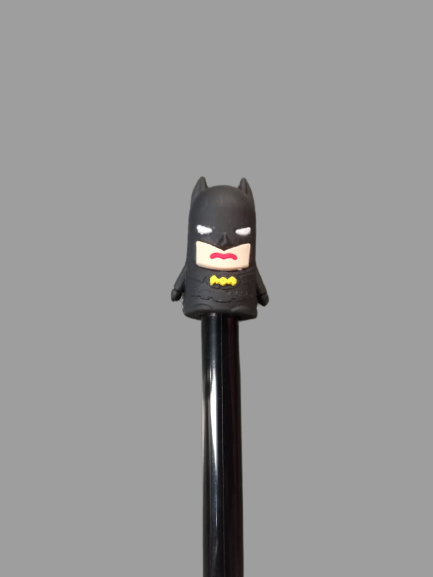 "Caneta Gel: Heróis ""Batman"" - Preto (Tinta Preta)"