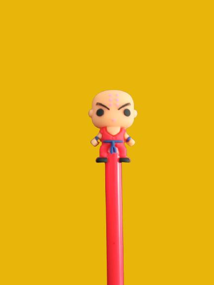 Caneta Gel Kuririn: Dragon Ball Z Vermelho (Tinta Preta)