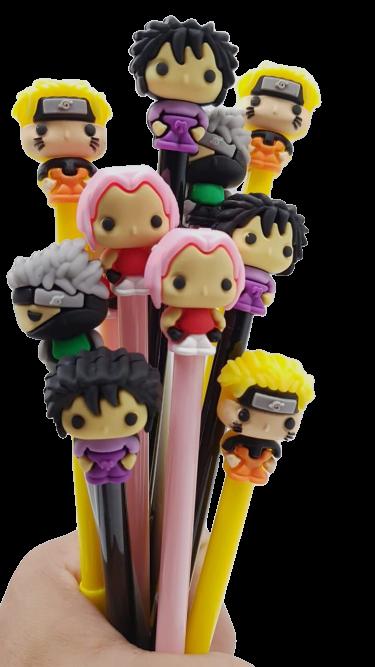 Caneta Gel Naruto Shippuden (4 Modelos) Naruto, Kakashi, Sakura e Sasuke