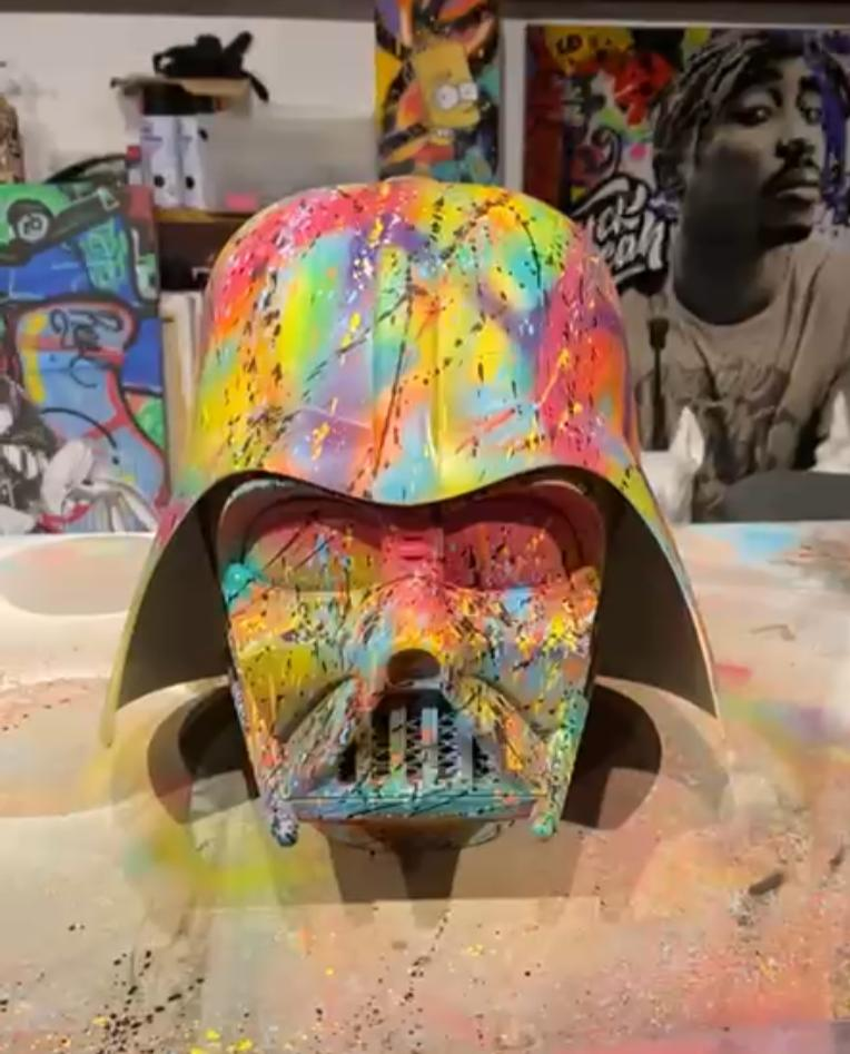 Capacete Darth Vader Pop Art By Russ - EV