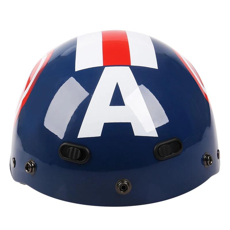 Capacete De Segurança Motoqueiro Capitão América Captain America Marvel Comics - MKP