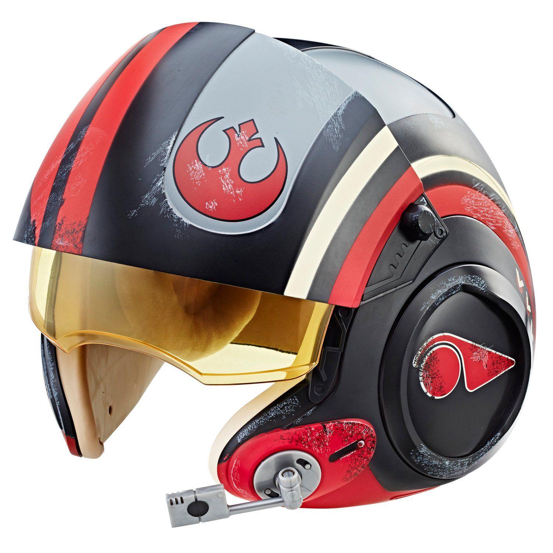 Capacete Eletrônico Poe Dameron Piloto X-Wing: Star Wars The Black Series - Hasbro