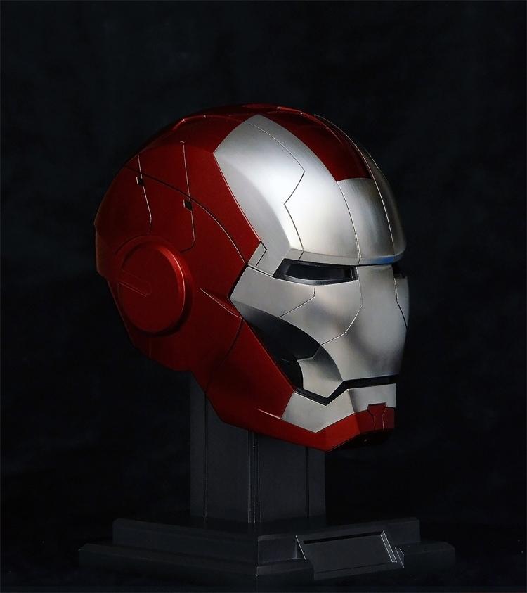 Capacete Inteligente Comando De Voz Jarvis LED Escala 1/1 Mark 5 Homem de Ferro 2 Iron Man2 Marvel - Auto King - MKP