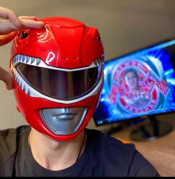 Capacete Power Rangers Lightning Collection  Red Ranger ( Ranger Vermelho)