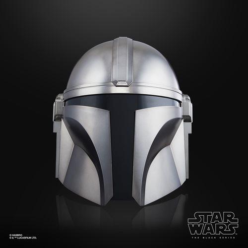 PRÉ VENDA: Capacete Réplica Eletrônico The Mandalorian Star Wars Premium The Black Series  - Hasbro